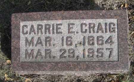 CRAIG, CARRIE E. - Dawes County, Nebraska | CARRIE E. CRAIG - Nebraska Gravestone Photos