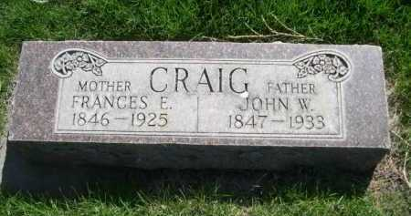 CRAIG, FRANCES E. - Dawes County, Nebraska | FRANCES E. CRAIG - Nebraska Gravestone Photos