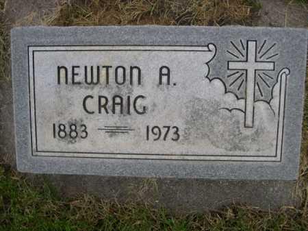 CRAIG, NEWTON A - Dawes County, Nebraska | NEWTON A CRAIG - Nebraska Gravestone Photos