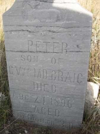 CRAIG, PETER - Dawes County, Nebraska   PETER CRAIG - Nebraska Gravestone Photos