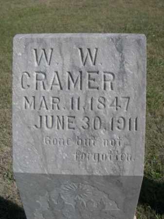 CRAMER, W. W. - Dawes County, Nebraska   W. W. CRAMER - Nebraska Gravestone Photos