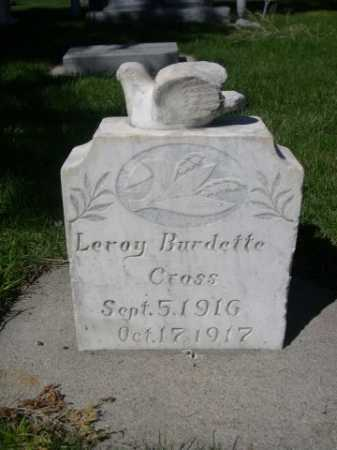 CRASS, LEROY BURDETTE - Dawes County, Nebraska | LEROY BURDETTE CRASS - Nebraska Gravestone Photos