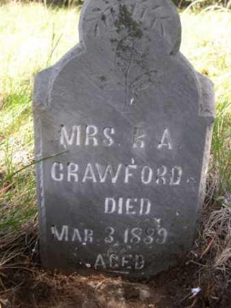 CRAWFORD, MRS. R. A. - Dawes County, Nebraska | MRS. R. A. CRAWFORD - Nebraska Gravestone Photos