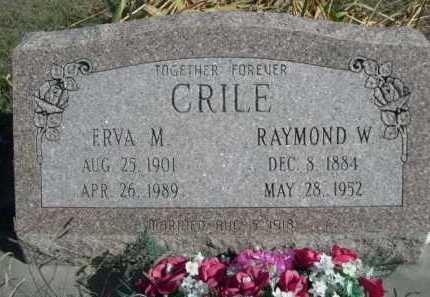 CRILE, RAYMOND W. - Dawes County, Nebraska | RAYMOND W. CRILE - Nebraska Gravestone Photos