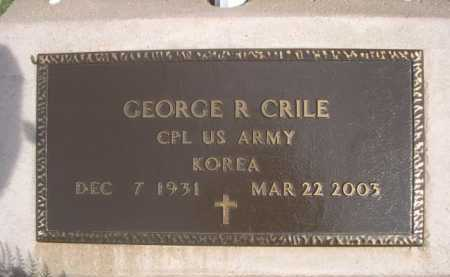 CRILE, GEORGE R. - Dawes County, Nebraska | GEORGE R. CRILE - Nebraska Gravestone Photos