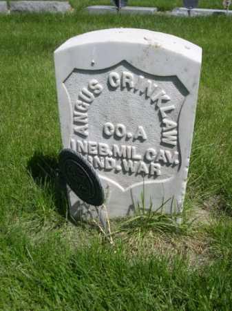 CRINKLAW, ANGUS - Dawes County, Nebraska | ANGUS CRINKLAW - Nebraska Gravestone Photos