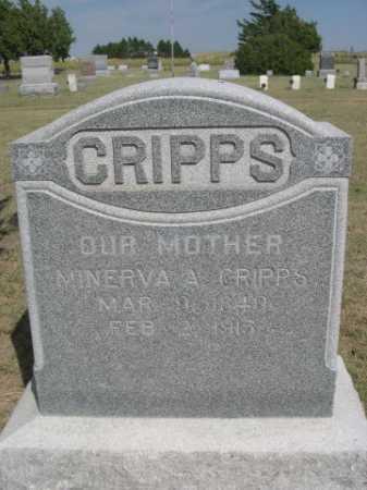 CRIPPS, MINERVA A. - Dawes County, Nebraska | MINERVA A. CRIPPS - Nebraska Gravestone Photos