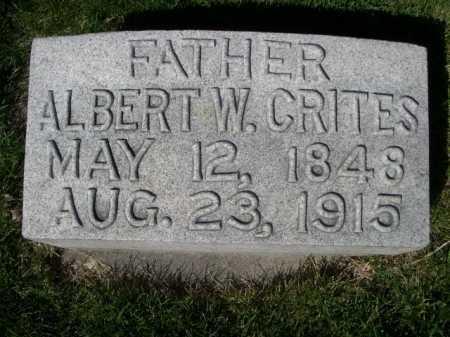 CRITES, ALBERT W. - Dawes County, Nebraska | ALBERT W. CRITES - Nebraska Gravestone Photos