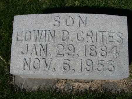 CRITES, EDWIN D. - Dawes County, Nebraska | EDWIN D. CRITES - Nebraska Gravestone Photos