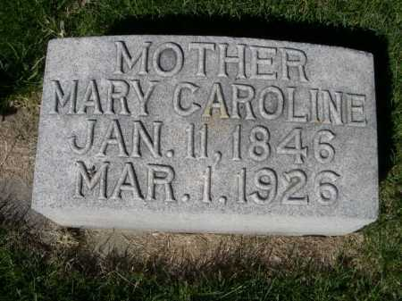 CRITES, MARY CAROLINE - Dawes County, Nebraska | MARY CAROLINE CRITES - Nebraska Gravestone Photos
