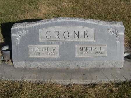 CRONK, HERBERT W. - Dawes County, Nebraska | HERBERT W. CRONK - Nebraska Gravestone Photos