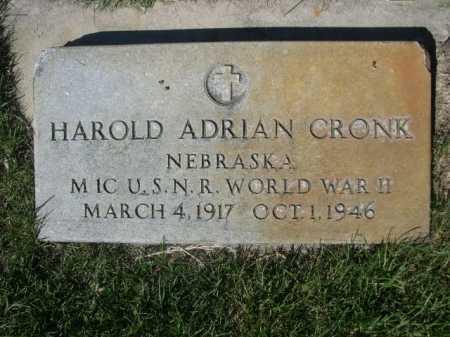 CRONK, HAROLD ADRIAN - Dawes County, Nebraska   HAROLD ADRIAN CRONK - Nebraska Gravestone Photos