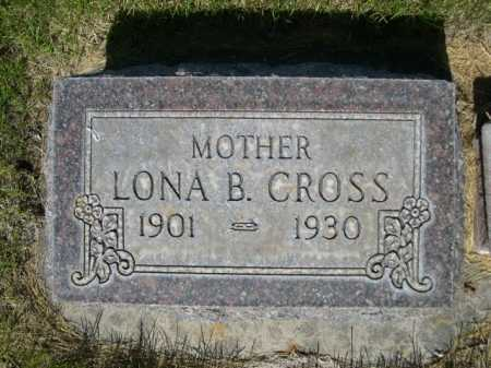 CROSS, LONA B. - Dawes County, Nebraska | LONA B. CROSS - Nebraska Gravestone Photos
