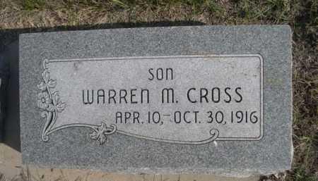 CROSS, WARREN M. - Dawes County, Nebraska | WARREN M. CROSS - Nebraska Gravestone Photos