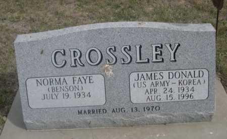 CROSSLEY, NORMA FAYE - Dawes County, Nebraska | NORMA FAYE CROSSLEY - Nebraska Gravestone Photos