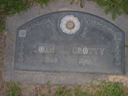CROTTY, JOHN L. - Dawes County, Nebraska | JOHN L. CROTTY - Nebraska Gravestone Photos