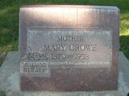 CROWE, MARY - Dawes County, Nebraska | MARY CROWE - Nebraska Gravestone Photos
