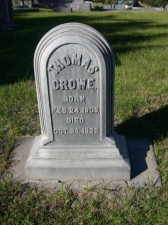CROWE, THOMAS - Dawes County, Nebraska   THOMAS CROWE - Nebraska Gravestone Photos