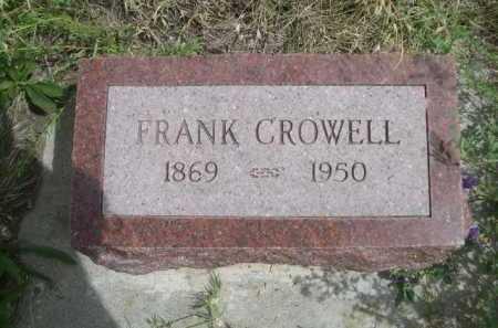 CROWELL, FRANK - Dawes County, Nebraska | FRANK CROWELL - Nebraska Gravestone Photos