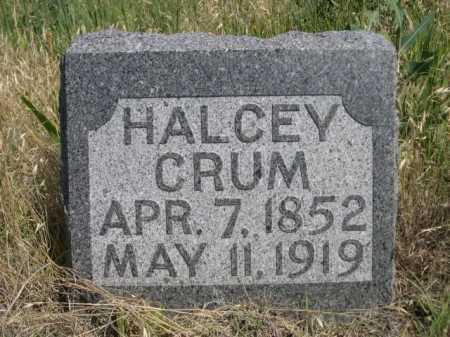CRUM, HALCEY - Dawes County, Nebraska   HALCEY CRUM - Nebraska Gravestone Photos