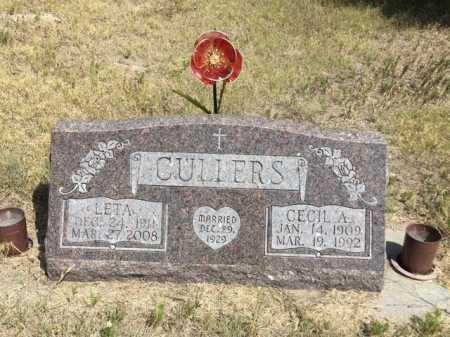 CULLERS, LETA - Dawes County, Nebraska | LETA CULLERS - Nebraska Gravestone Photos