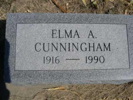 CUNNINGHAM, ELMA A. - Dawes County, Nebraska | ELMA A. CUNNINGHAM - Nebraska Gravestone Photos