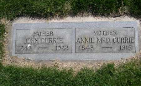 CURRIE, ANNIE MCD. - Dawes County, Nebraska | ANNIE MCD. CURRIE - Nebraska Gravestone Photos