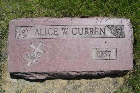 CURREN, ALICE W. - Dawes County, Nebraska | ALICE W. CURREN - Nebraska Gravestone Photos