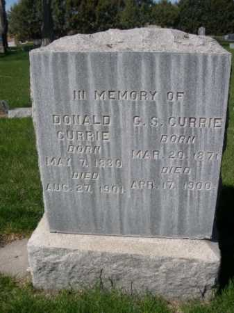 CURRIE, DONALD - Dawes County, Nebraska | DONALD CURRIE - Nebraska Gravestone Photos