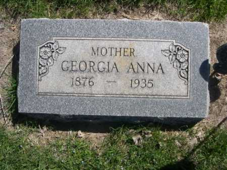 CURRIE, GEORGIA ANNA - Dawes County, Nebraska | GEORGIA ANNA CURRIE - Nebraska Gravestone Photos