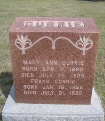 CURRIE, FRANK - Dawes County, Nebraska | FRANK CURRIE - Nebraska Gravestone Photos