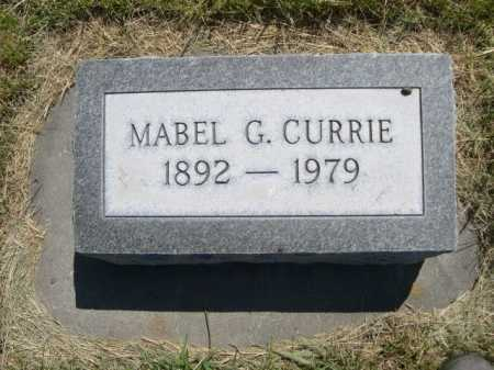 CURRIE, MABEL G. - Dawes County, Nebraska   MABEL G. CURRIE - Nebraska Gravestone Photos
