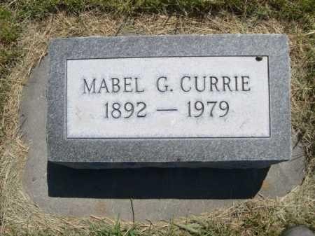 CURRIE, MABEL G. - Dawes County, Nebraska | MABEL G. CURRIE - Nebraska Gravestone Photos