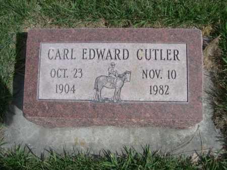 CUTLER, CARL EDWARD - Dawes County, Nebraska   CARL EDWARD CUTLER - Nebraska Gravestone Photos
