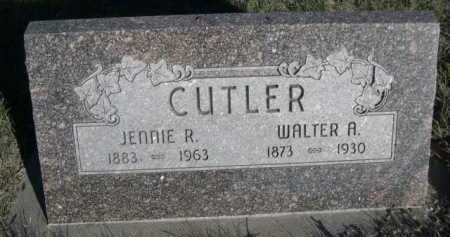 CUTLER, JENNIE R. - Dawes County, Nebraska | JENNIE R. CUTLER - Nebraska Gravestone Photos