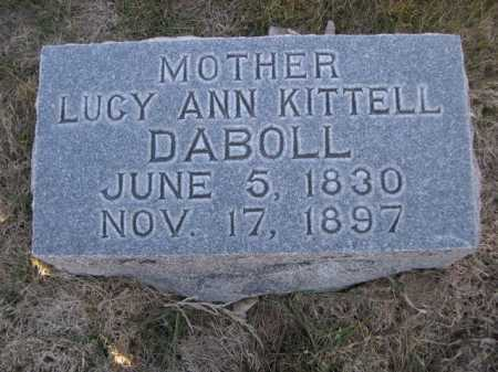 KITTELL DABOLL, LUCY ANN KITTELL - Dawes County, Nebraska | LUCY ANN KITTELL KITTELL DABOLL - Nebraska Gravestone Photos