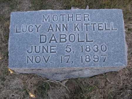 DABOLL, LUCY ANN KITTELL - Dawes County, Nebraska   LUCY ANN KITTELL DABOLL - Nebraska Gravestone Photos