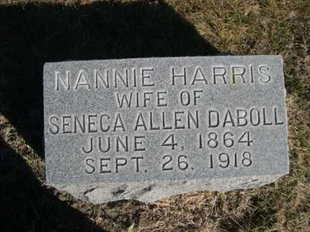 HARRIS DABOLL, NANNIE HARRIS - Dawes County, Nebraska | NANNIE HARRIS HARRIS DABOLL - Nebraska Gravestone Photos