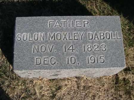 DABOLL, SOLON MOXLEY - Dawes County, Nebraska | SOLON MOXLEY DABOLL - Nebraska Gravestone Photos