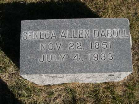 DABOLL, SENECA ALLEN - Dawes County, Nebraska   SENECA ALLEN DABOLL - Nebraska Gravestone Photos