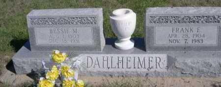 DAHLHEIMER, FRANK E. - Dawes County, Nebraska | FRANK E. DAHLHEIMER - Nebraska Gravestone Photos