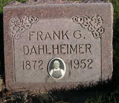 DAHLHEIMER, FRANK G. - Dawes County, Nebraska | FRANK G. DAHLHEIMER - Nebraska Gravestone Photos