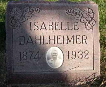 DAHLHEIMER, ISABELLE - Dawes County, Nebraska   ISABELLE DAHLHEIMER - Nebraska Gravestone Photos