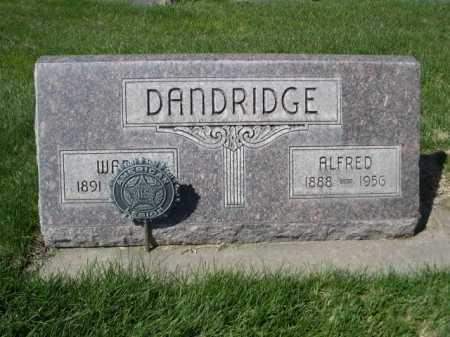 DANDRIDGE, ALFRED - Dawes County, Nebraska | ALFRED DANDRIDGE - Nebraska Gravestone Photos
