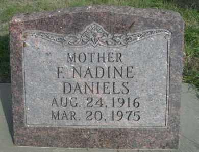 DANIELS, F. NADINE - Dawes County, Nebraska | F. NADINE DANIELS - Nebraska Gravestone Photos
