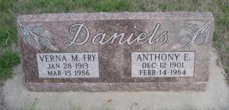 FRY DANIELS, VERNA M. - Dawes County, Nebraska | VERNA M. FRY DANIELS - Nebraska Gravestone Photos