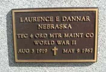 DANNAR, LAURENCE E. - Dawes County, Nebraska   LAURENCE E. DANNAR - Nebraska Gravestone Photos