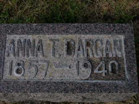 DARGAN, ANNA T - Dawes County, Nebraska | ANNA T DARGAN - Nebraska Gravestone Photos
