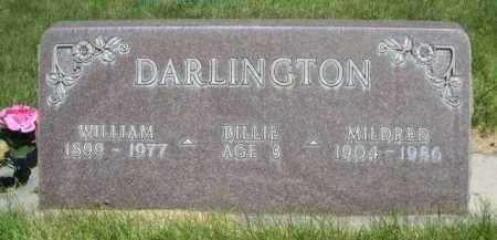 DARLINGTON, BILLIE - Dawes County, Nebraska | BILLIE DARLINGTON - Nebraska Gravestone Photos