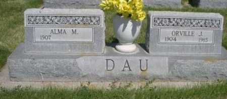 DAU, ORVILLE J. - Dawes County, Nebraska   ORVILLE J. DAU - Nebraska Gravestone Photos